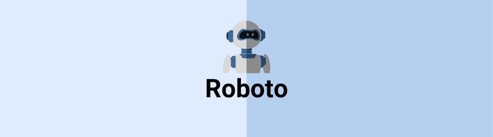 Robots email design font