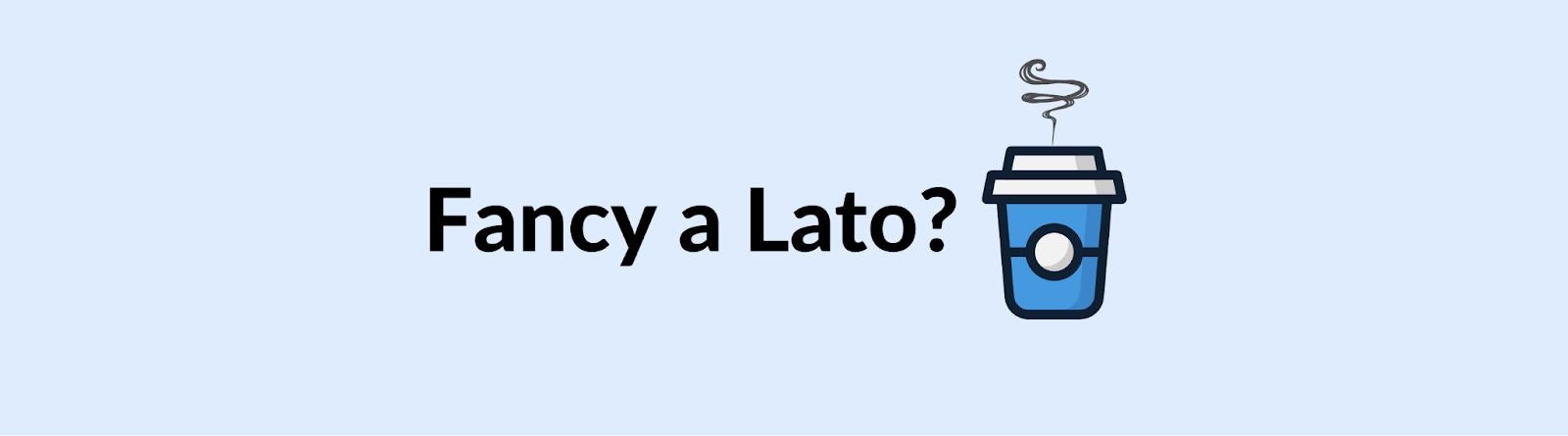 Lato email design font