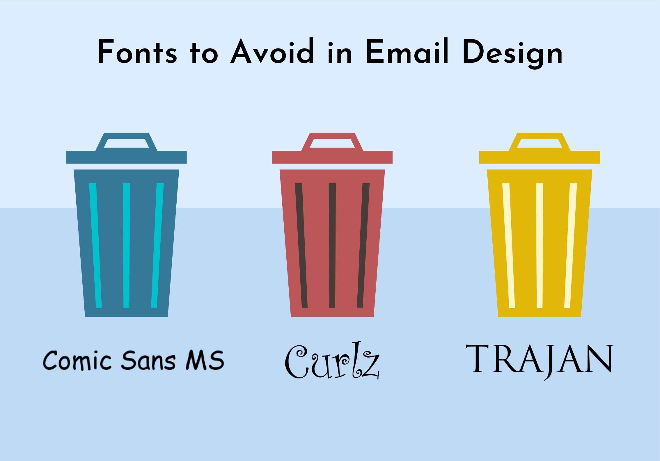 Worst fonts for email design