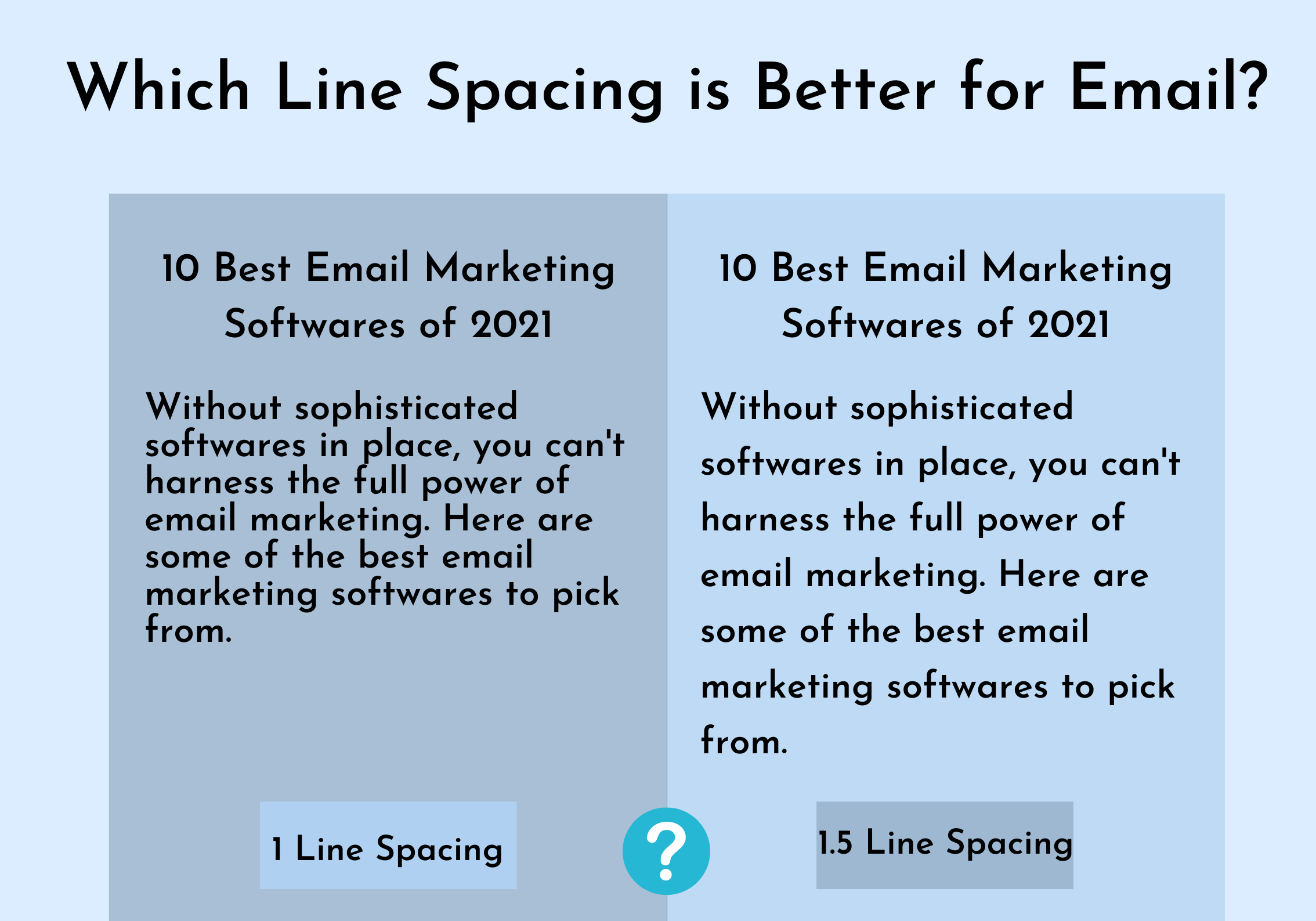 Line spacing best practice for email design