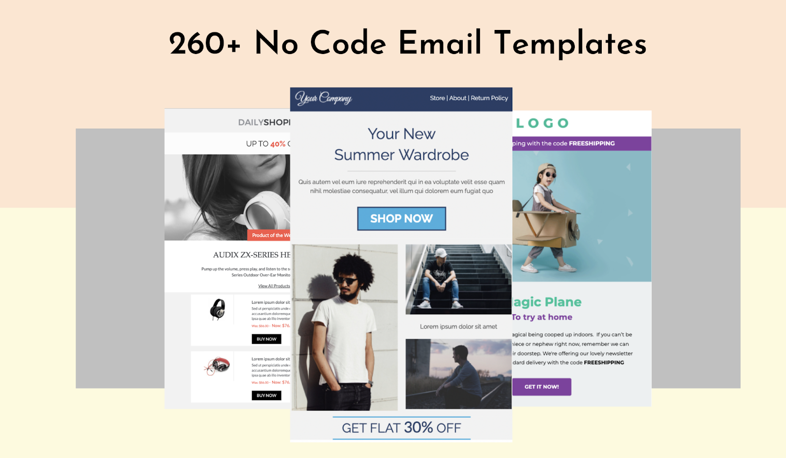 No code email templates library by Unlayer