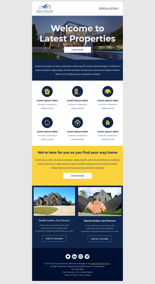 Welcome Email for Real Estate Agents