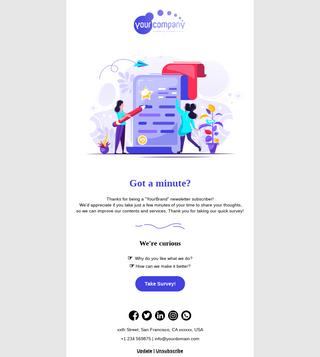 User Quick Survey