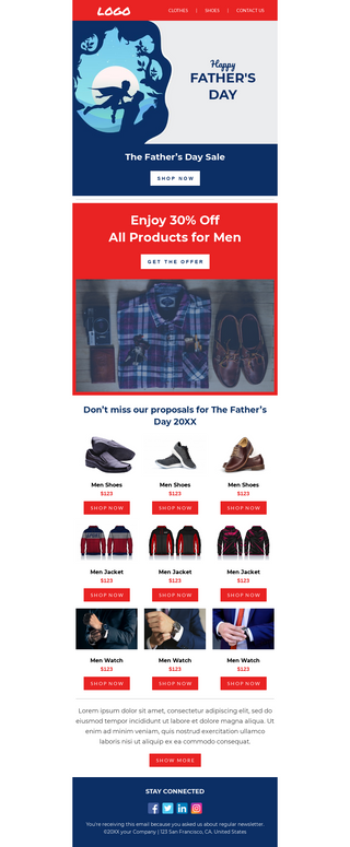 Father's Day Fashion Sale