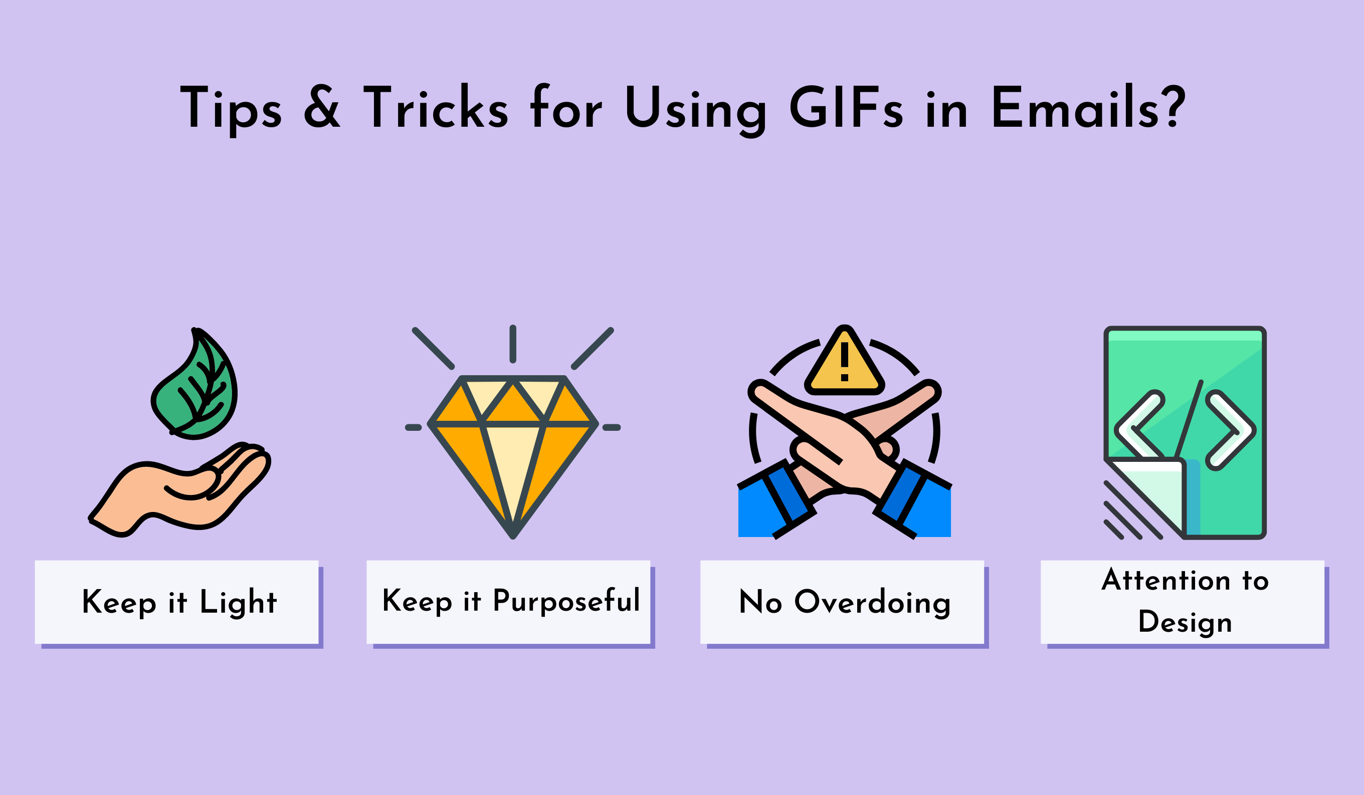 Tips and Tricks for using gifs in emails