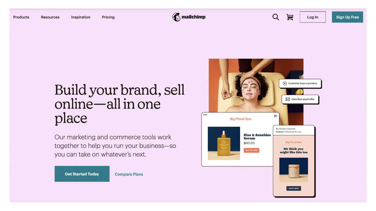 Mailchimp webpage