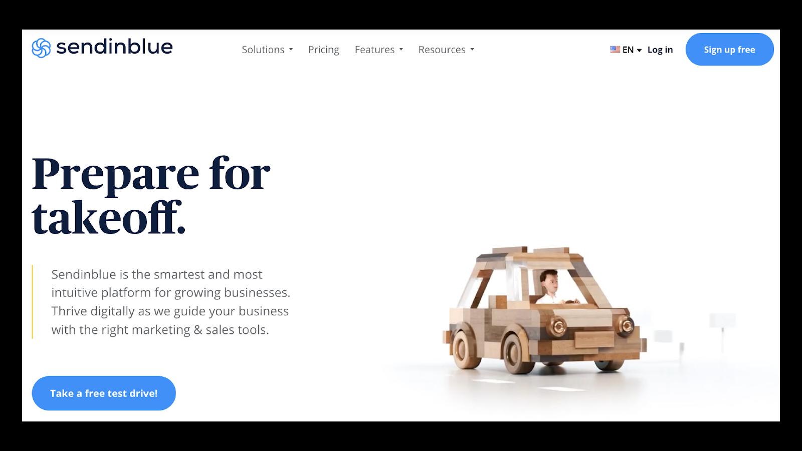 Sendinblue webpage