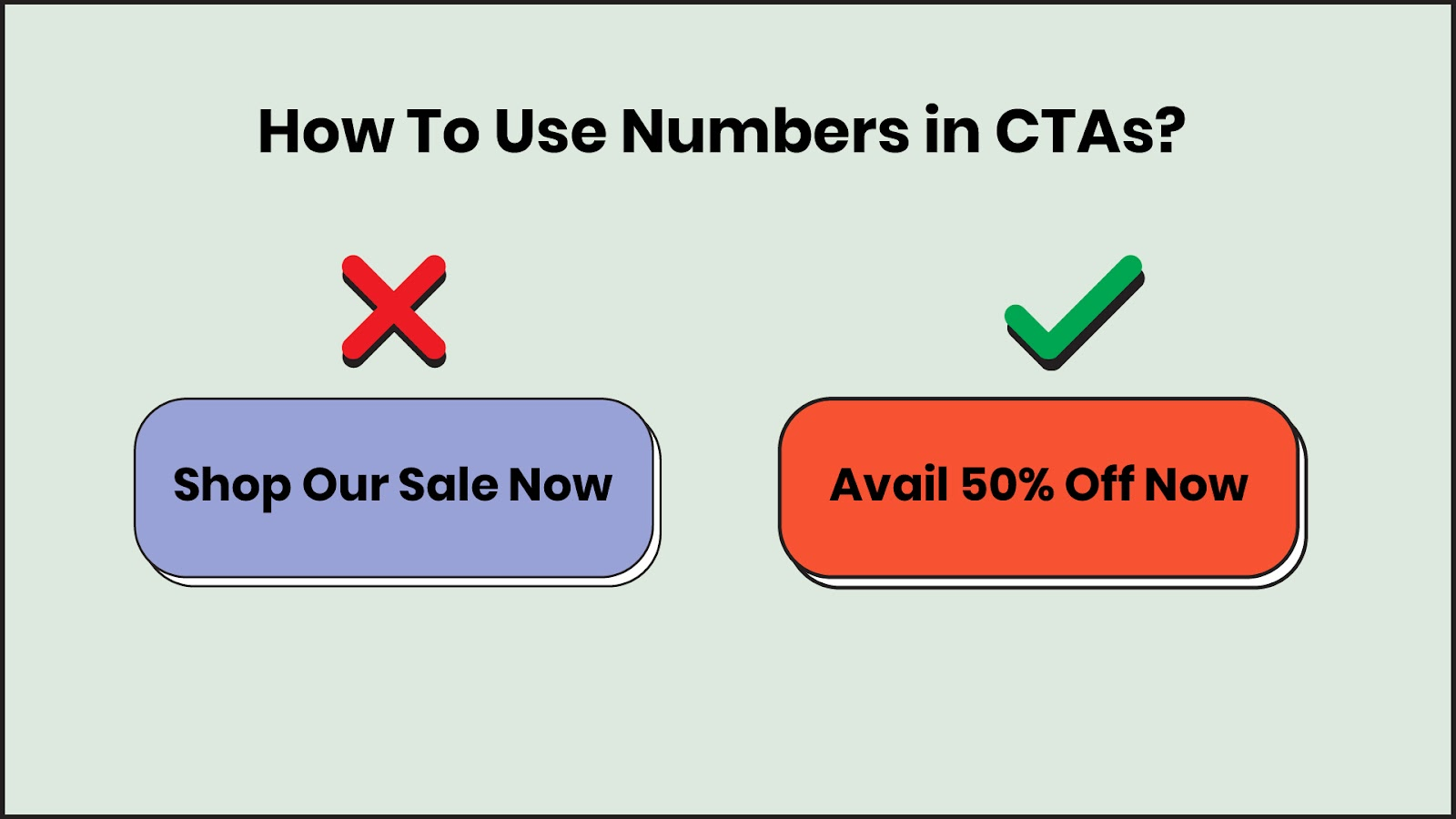 Numbers should be used in CTAs, wherever possible