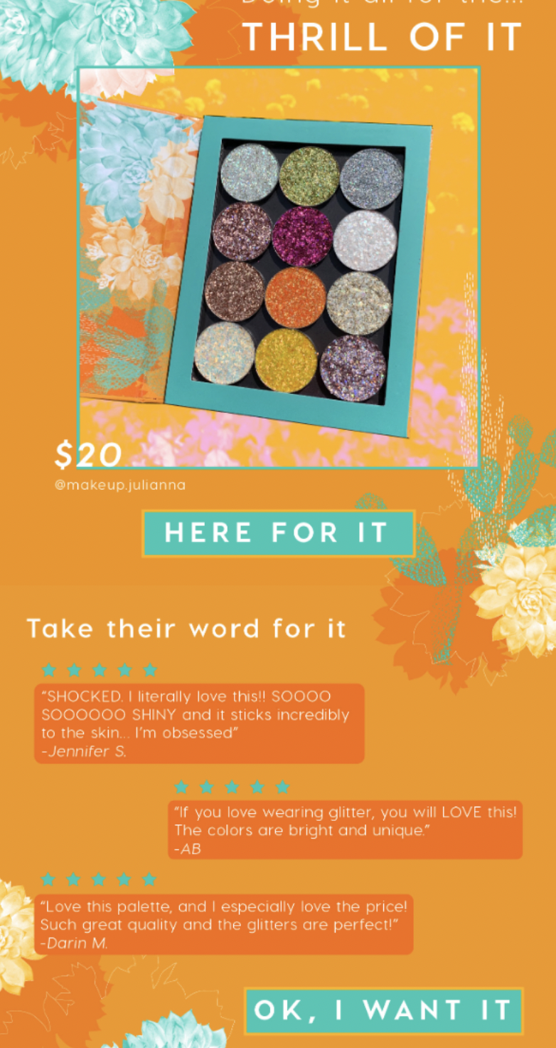 Email example of colourpop