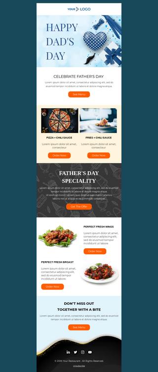 Father's Day Restaurant Menu