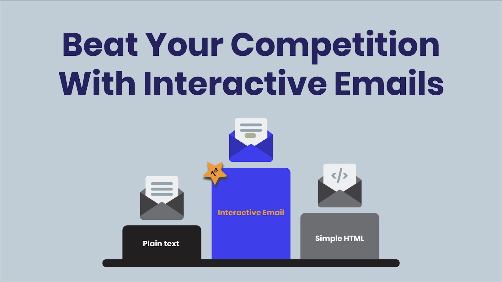 Interactive emails give you an edge over simple HTML and plain text emails