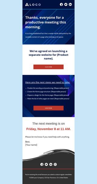 Meeting Follow Up