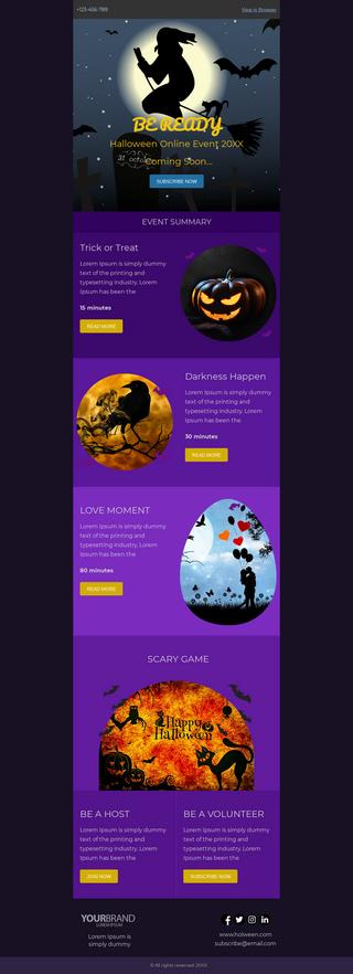 Halloween Online Event