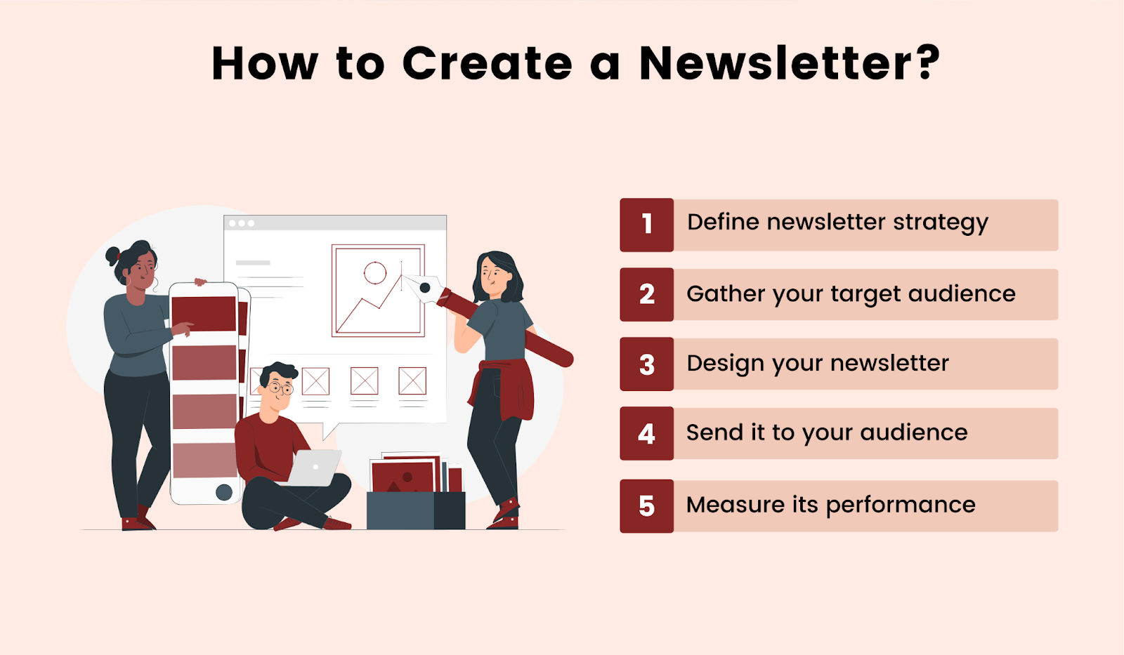 5 steps for how to create a newsletter