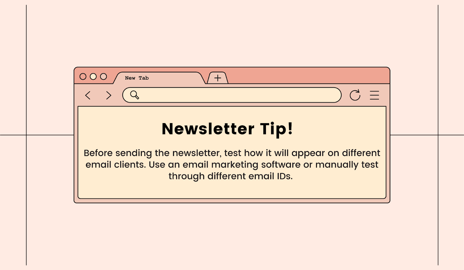 Tip to follow before sending newsletters