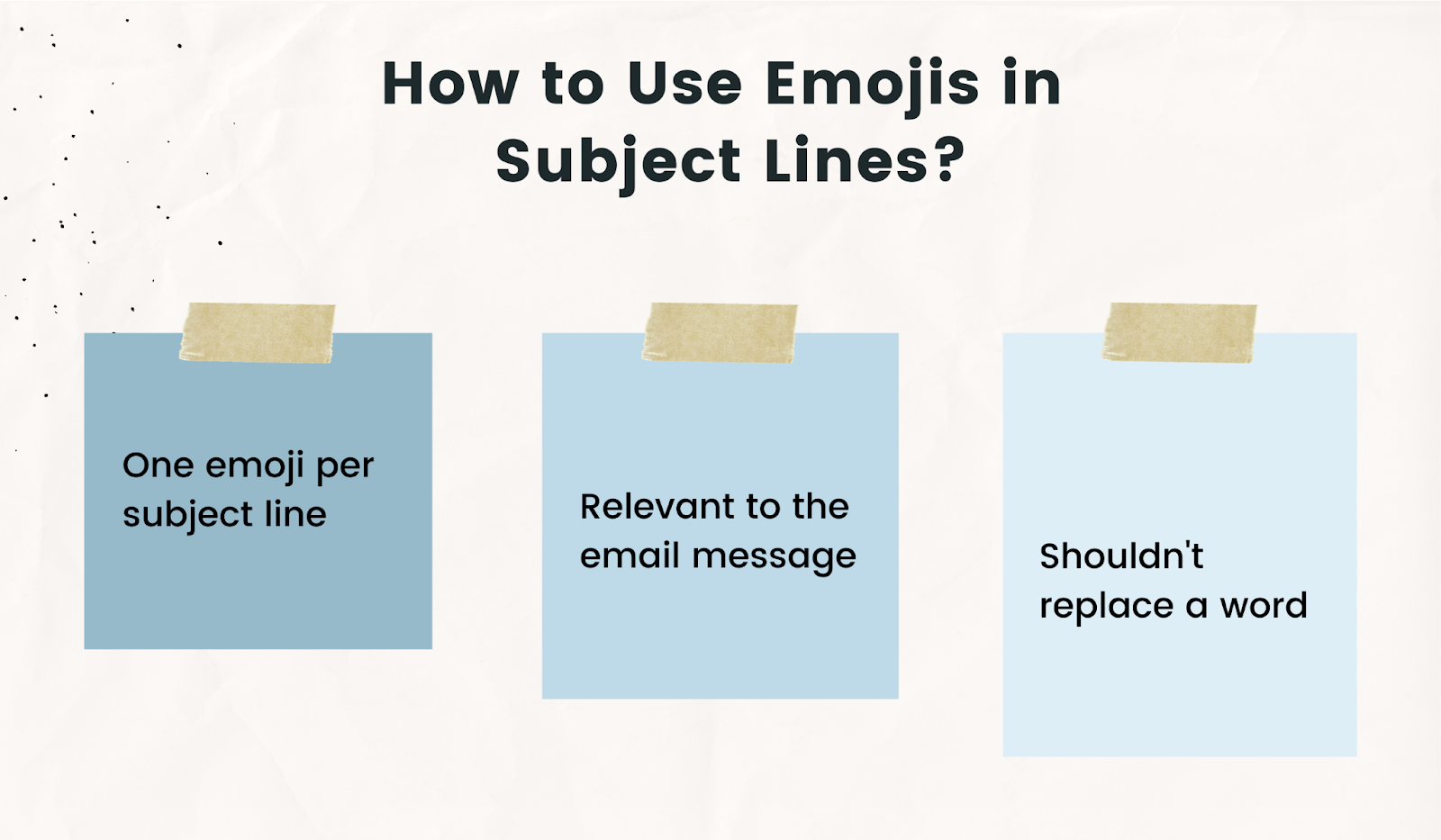 3 tips for using emojis in subject lines