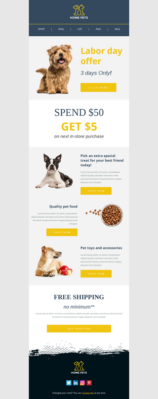 Labor Day Offer for Pet Shop