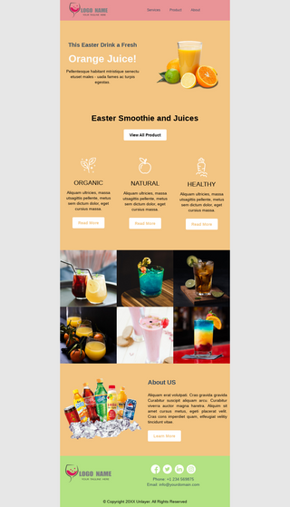 Easter Discount for Beverages