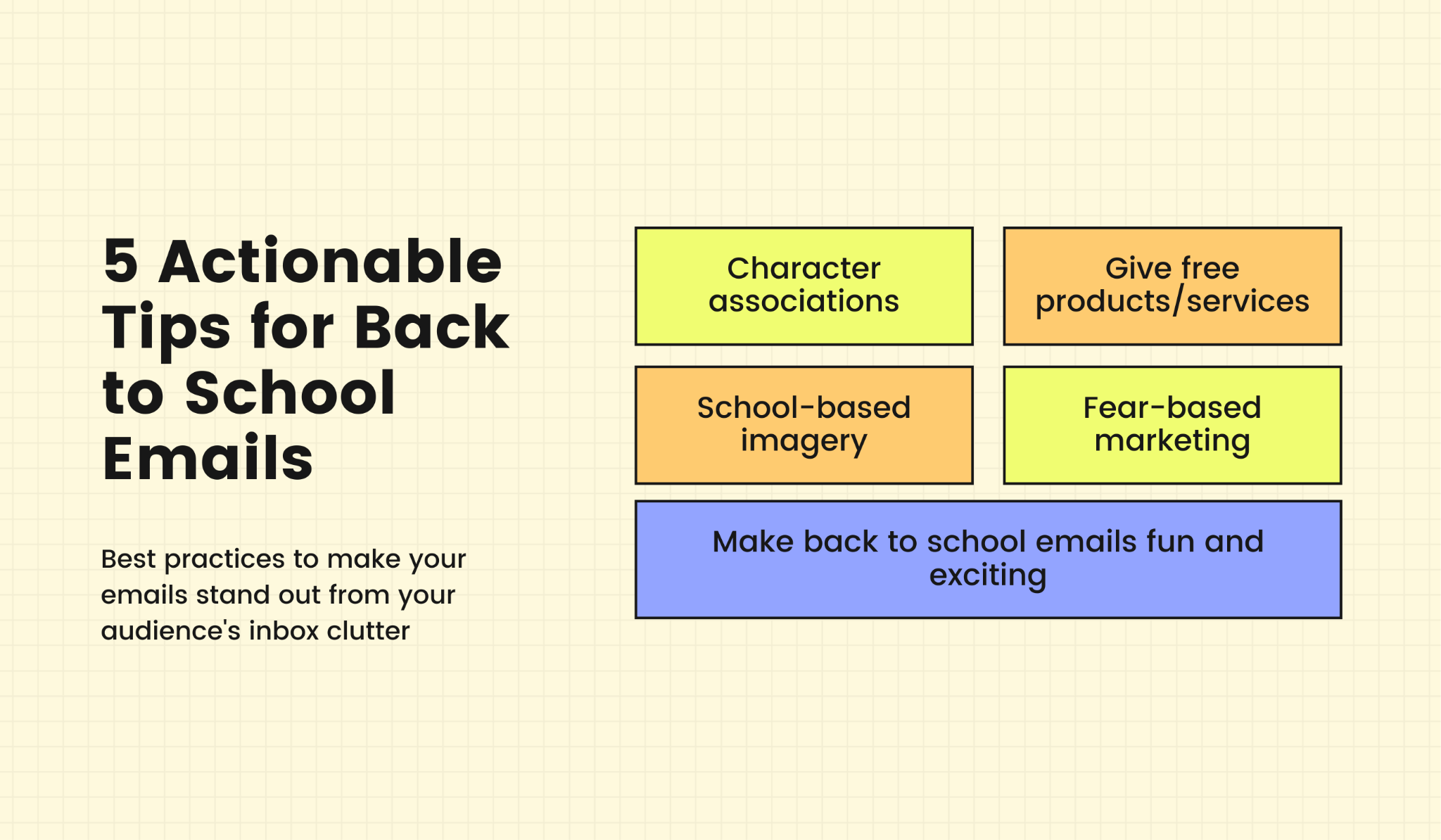 Tips for creating engaging back to school emails
