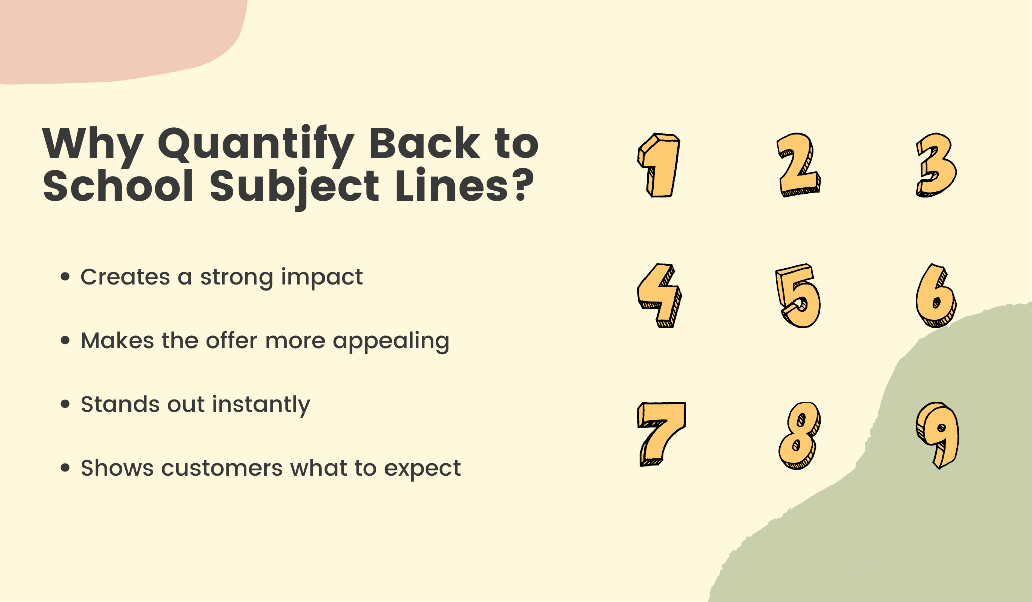 4 reasons to use numbers in subject lines