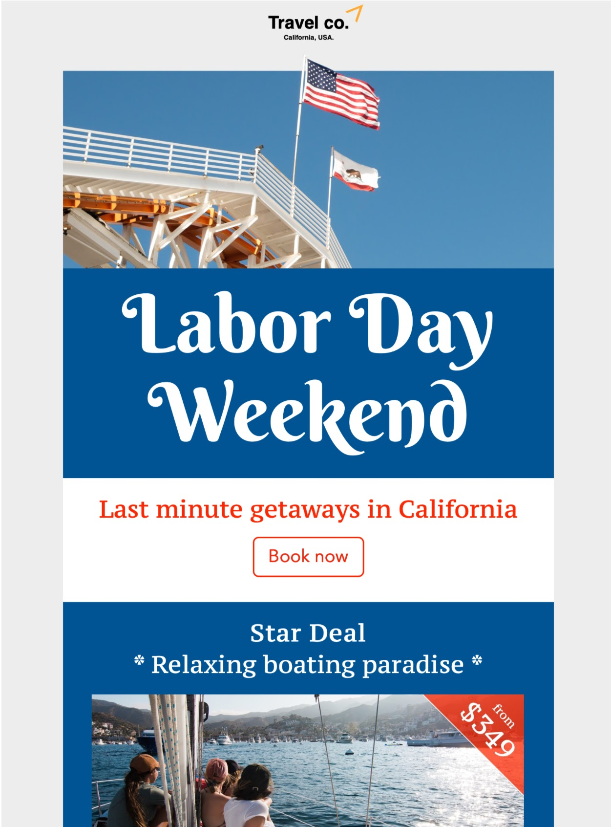 Email example from Travel Co.