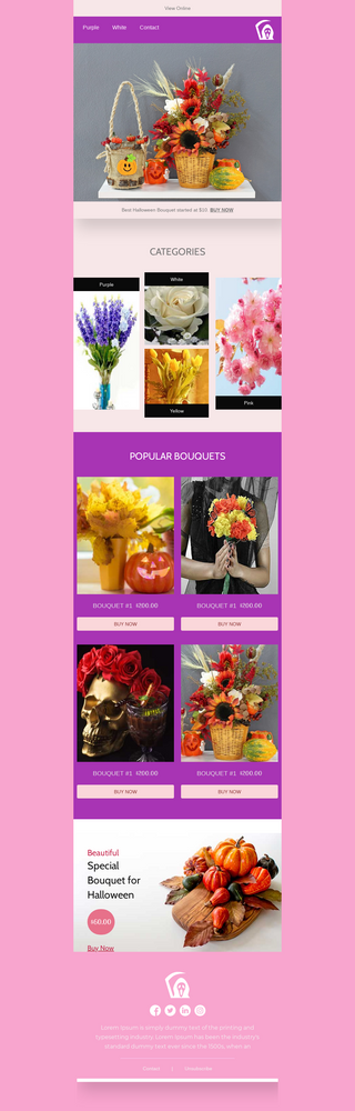 Halloween Bouquet Sale