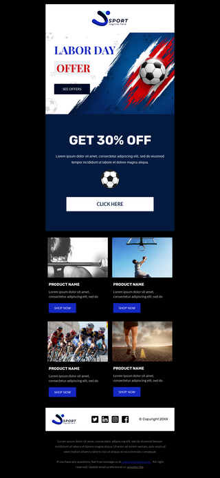 Labor Day Sale for Sports Equipment