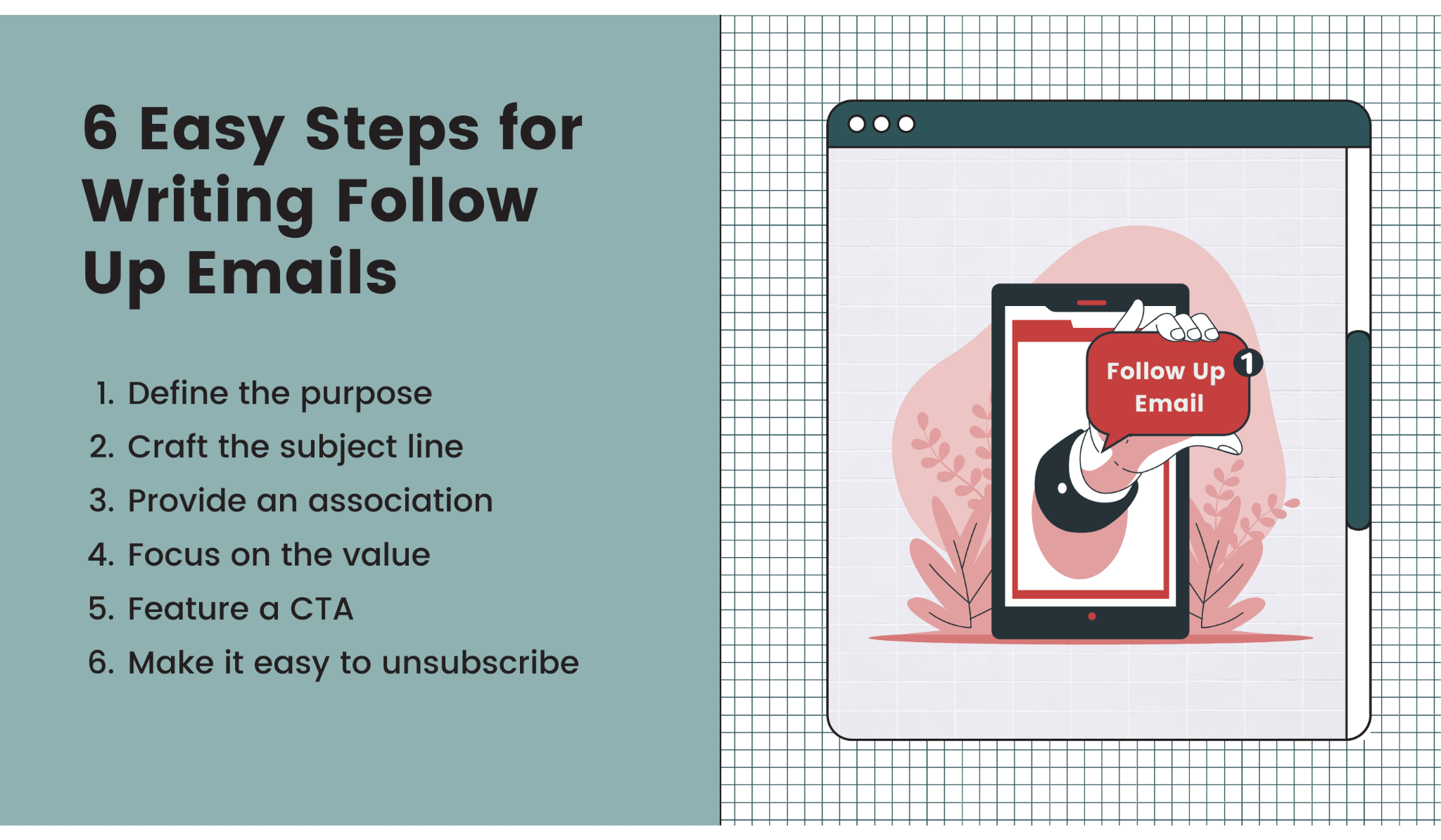 Write follow up emails in 6 steps
