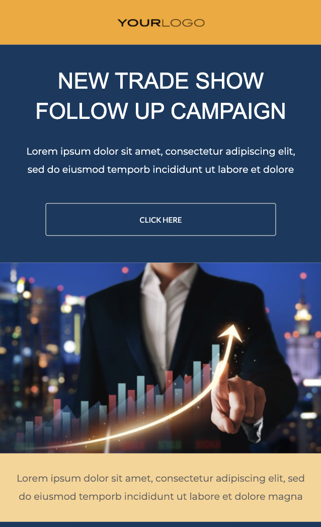 HTML follow up email template from Unlayer