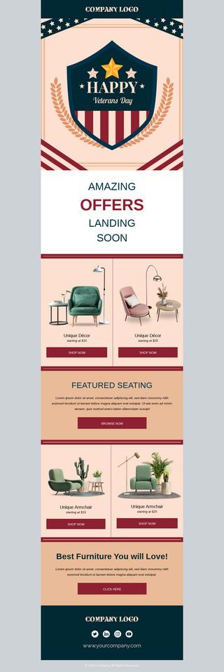 Veterans Day Furniture Sale