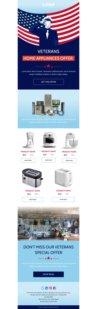 Veterans Day Appliances Sale