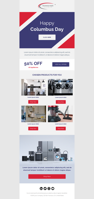 Columbus Day Sale For Appliances