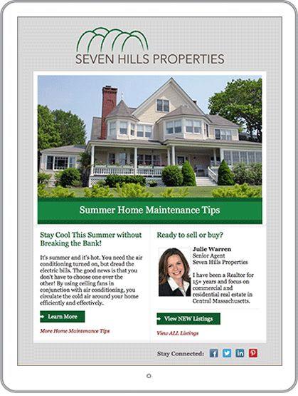 Newsletter example from Seven Hills Properties