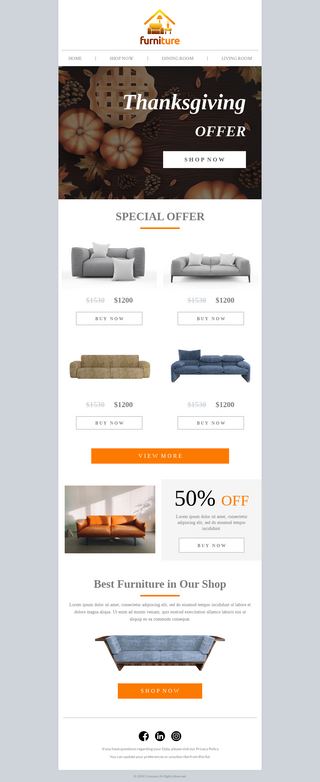 Thanksgiving Special Furniture Sale
