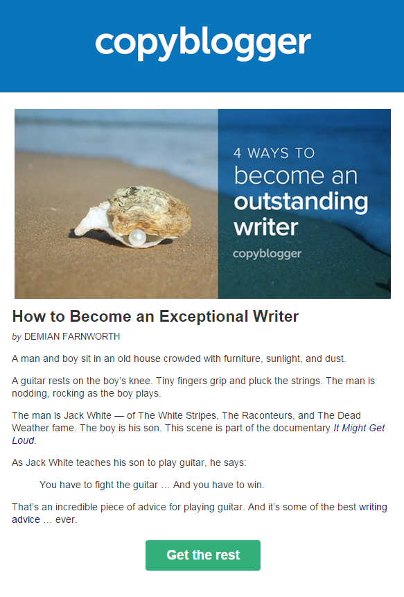 Newsletter from Copyblogger
