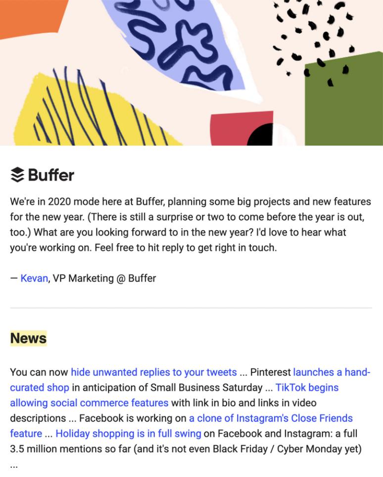 Newsletter from Buffer