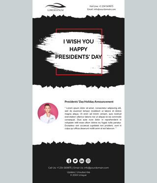 Presidents' Day Holiday Announcement