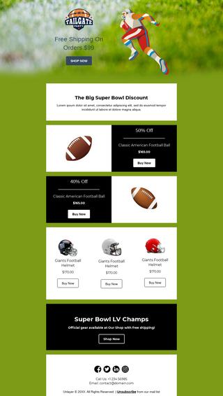 Super Bowl Sports Goods Discount