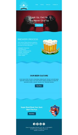 Super Bowl Beer Store Promotion