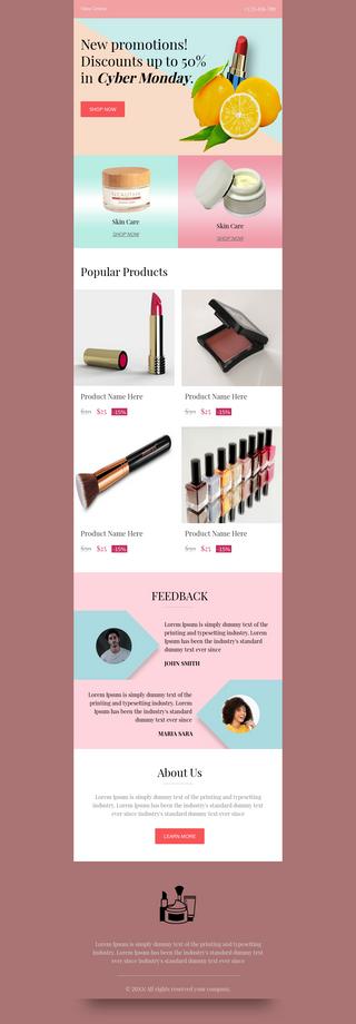 Cyber Monday Cosmetics Sale