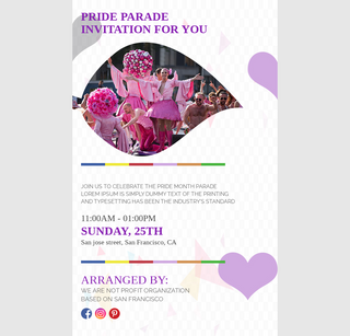 Pride Month Parade Invitation