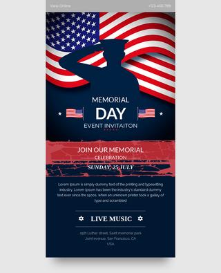 Memorial Day Event Invitation