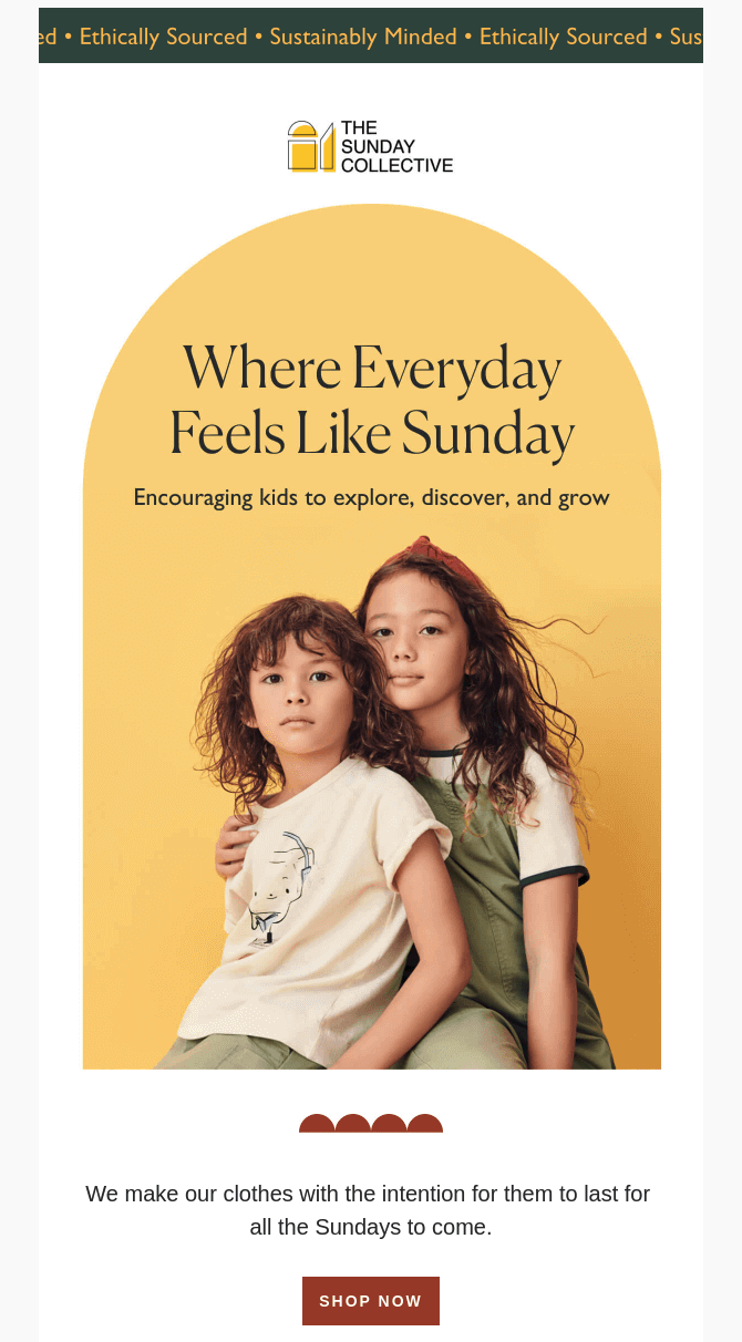 Editorial-worthy emails from The Sunday Collective