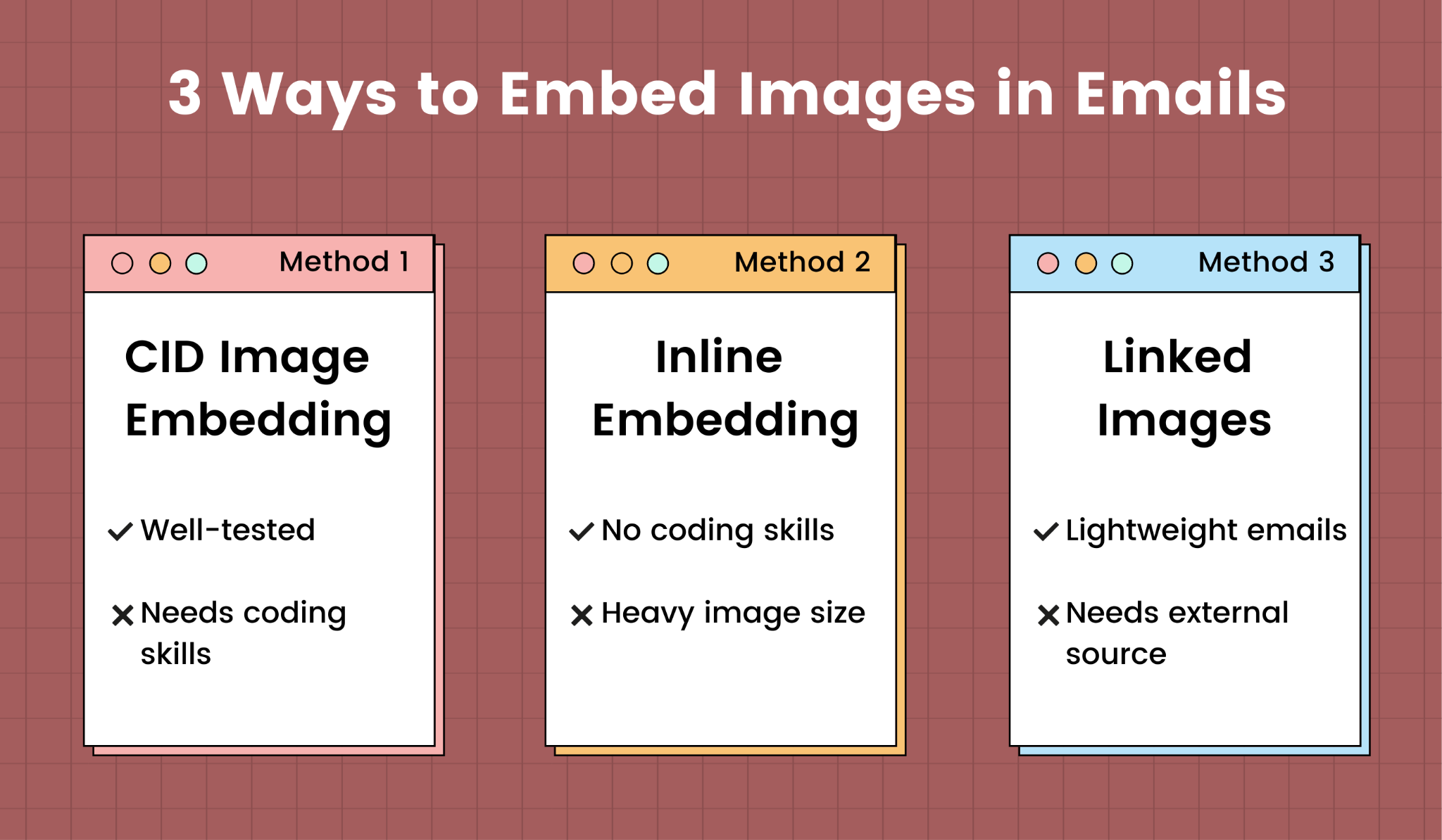 3 methods to embed images in emails