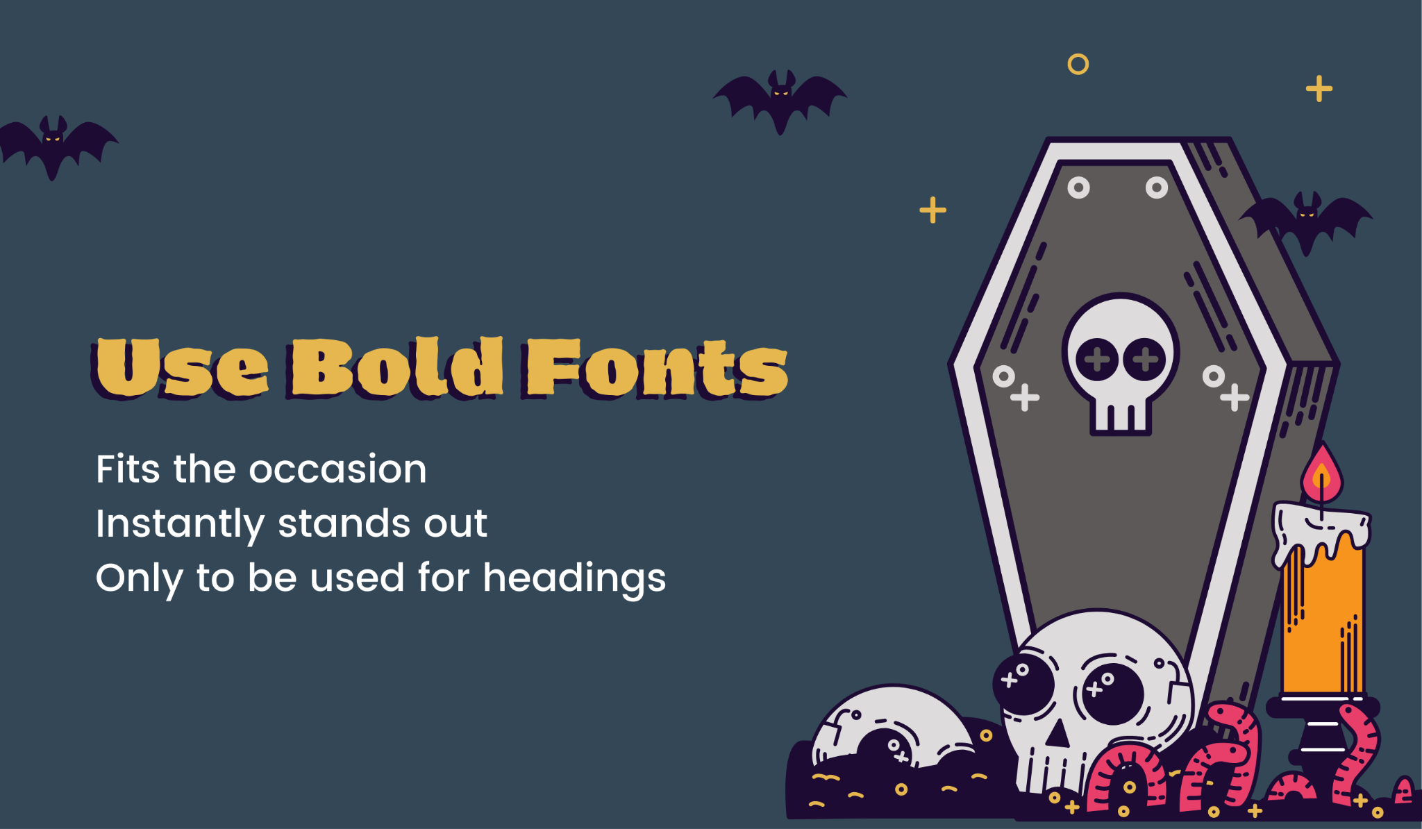 Reasons to use bold fonts in Halloween emails