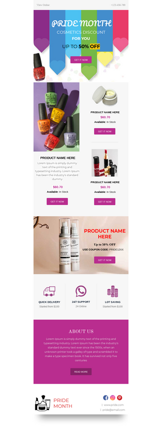 Pride Month Cosmetics Discount