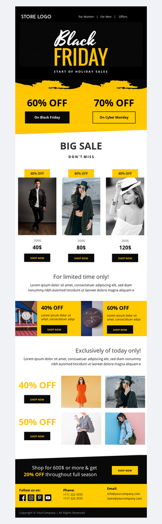 Black Friday Mega Sale Email Template