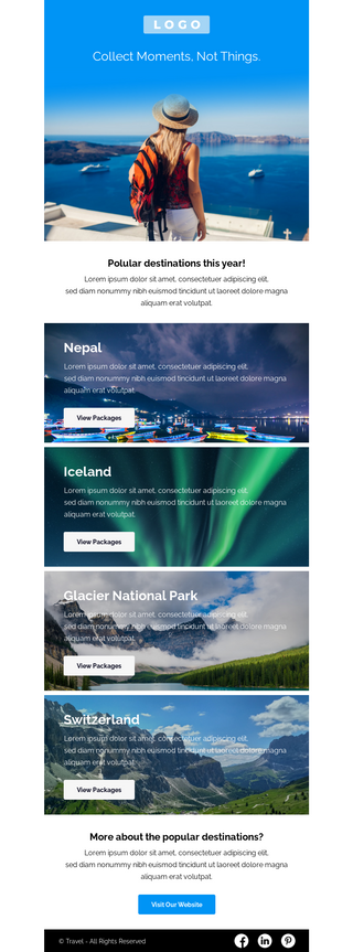 Travel Destinations Email Template