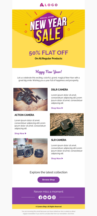 New Year Sale Email Template