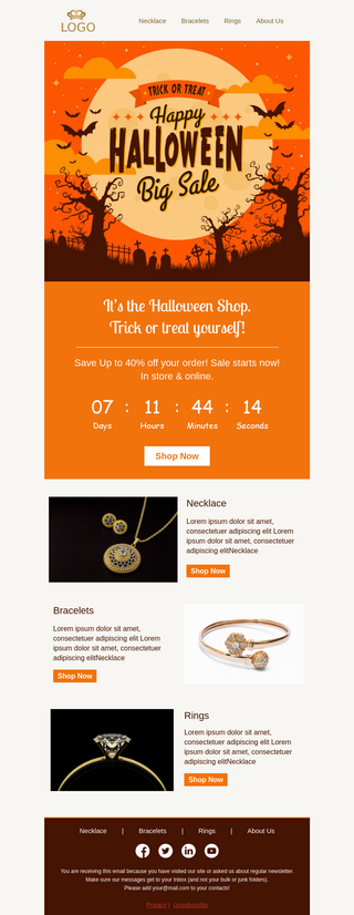Happy Halloween Email Template